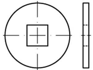 RONDELLE PLATE CHARPENTE DIN 440 ISO 7094 TYPE V ACIER BRUT