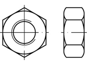 ECROU HU ASME B 18.2.2 PAS UNC ACIER BRUT CLASSE 10 GRADE 8