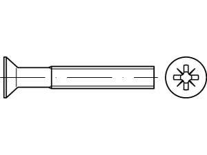 VIS METAUX TETE FRAISEE POZIDRIVE DIN 965 ISO 7046 ZINGUE BLANC