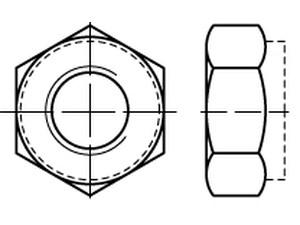 ECROU FREIN FORME BASSE TOUT METAL DIN 980 TYPE V CLASSE 10 ZINC LAMELLAIRE