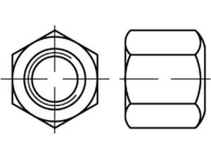 ECROU HAUT H=1.5XD DIN 6330 ZINGUE BLANC