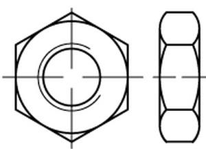 ECROU BAS ISO 4035 ZINGUE BLANC