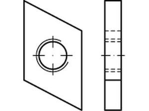 ECROU POUR RAIL TYPE 28/15 ZINGUE BLANC