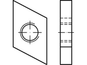 ECROU POUR RAIL TYPE 38/17 ZINGUE BLANC