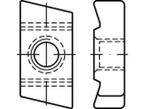 ECROU POUR RAIL TYPE 40/22 ZINGUE BLANC